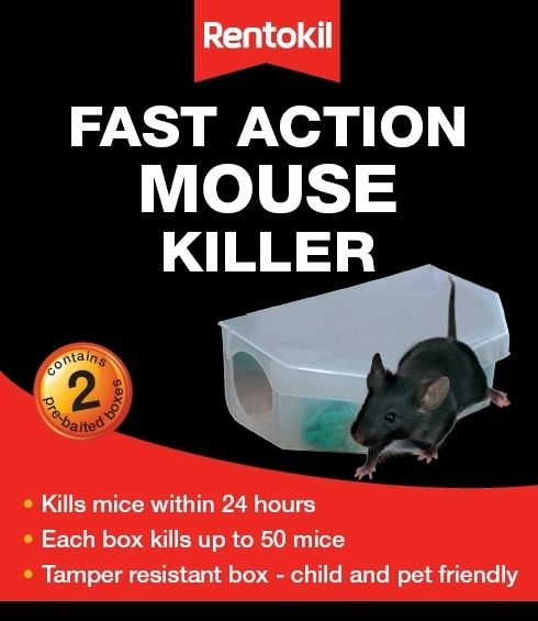 Rentokil Fast Action Mouse Killer Twin Pack