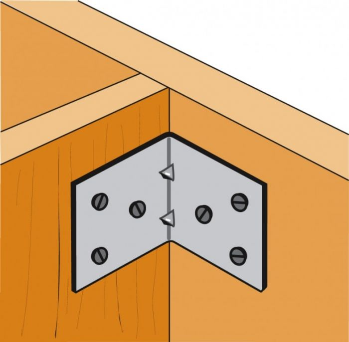 Simpson Strong Tie Light Reinforced Angle Bracket 70 X 50 X 60