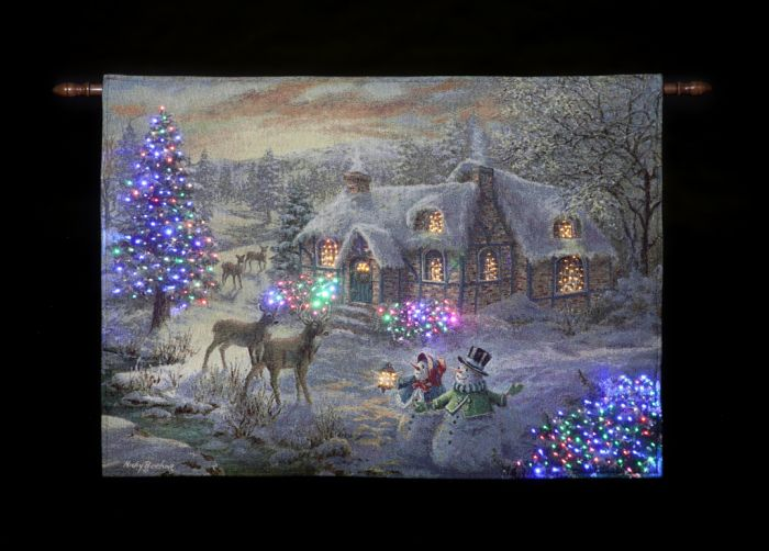 Battery Operated Fibre Optic Tapestry 36 X 26