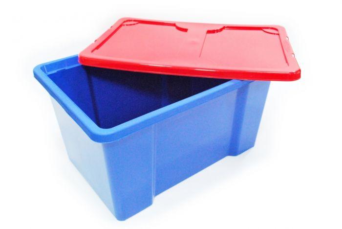 Tml Dark Blue Box & Red Lid 50L