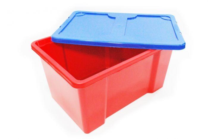 Tml Red Box With Dark Blue Lid 50L