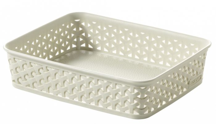 Curver My Style Rattan Tray Vintage White A5
