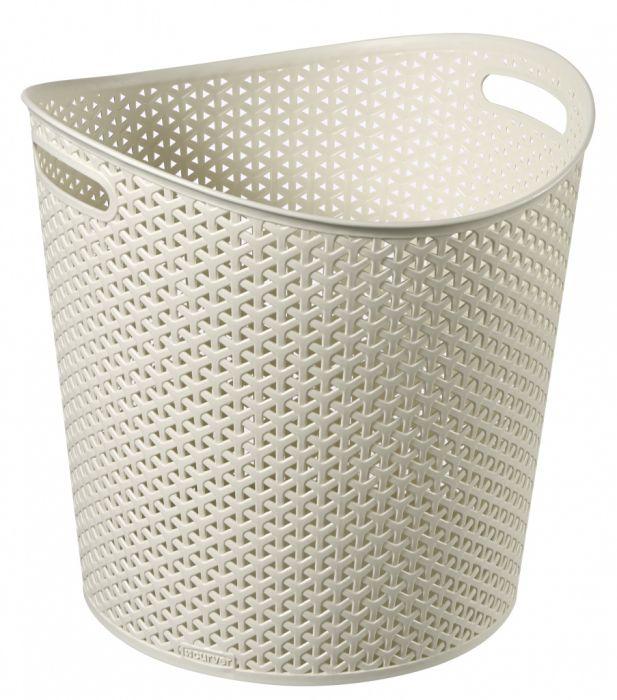 My Style Round Basket Vintage White