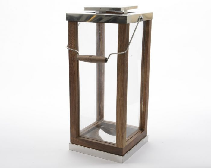 Kaemingk Shesham Wood Lantern 60Cm