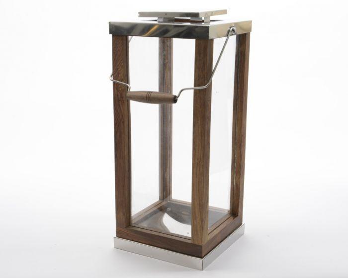 Kaemingk Shesham Wood Lantern 51Cm