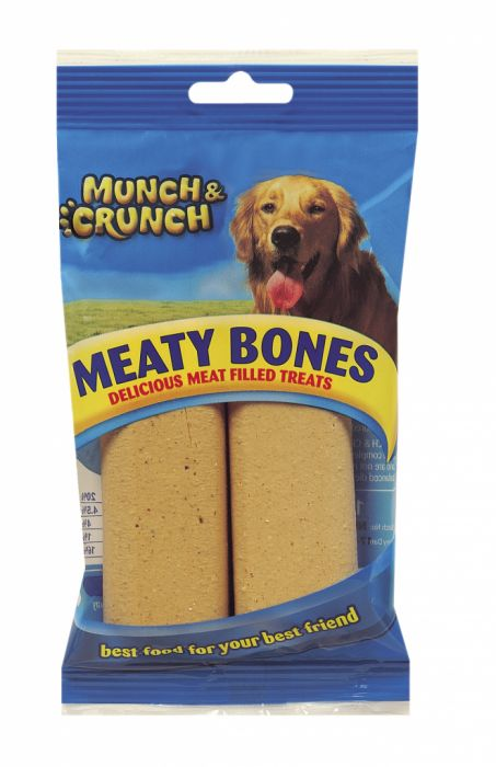 Munch & Crunch Meaty Bone 140G Pack 2