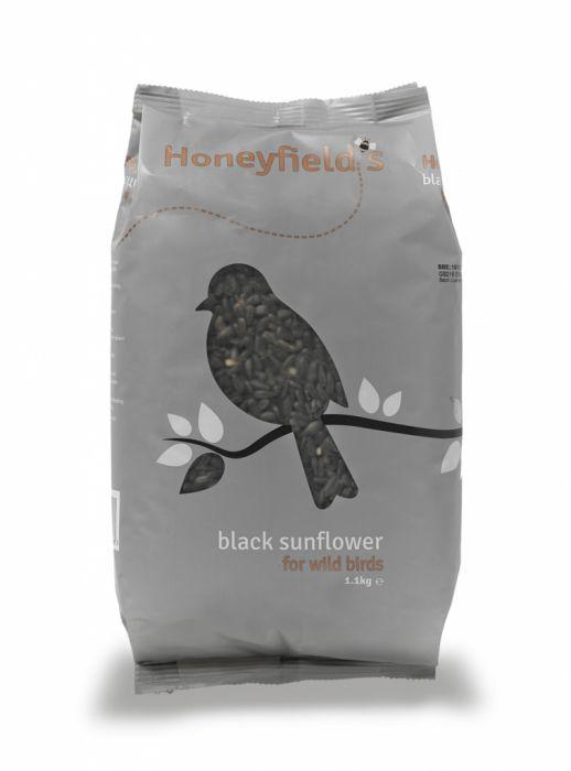 Honeyfield's Black Sunflower Seed 1.1Kg