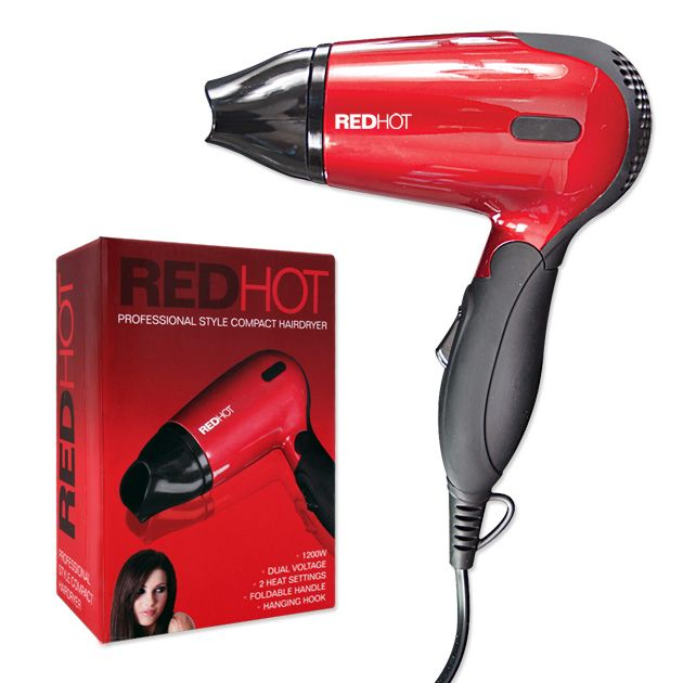 Redhot Compact Hair Dryer 1200W