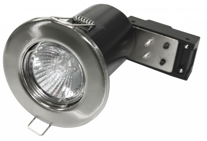 Powermaster Fixed Fire Rated Downlight Brushed Chrome