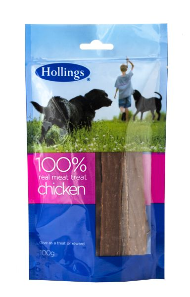 Hollings 100% Real Meat Treat Chicken 100G