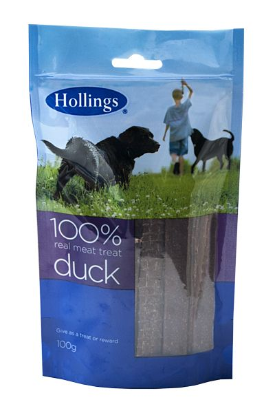Hollings 100% Real Meat Treat Duck 100G