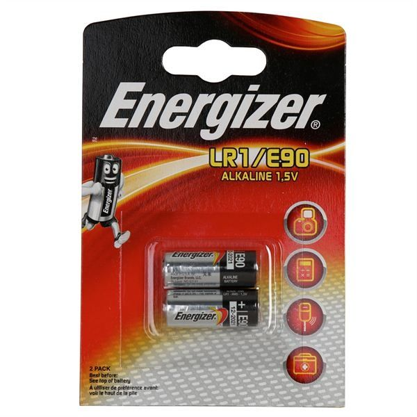Energizer Alkaline Battery Pack 2 Lr1