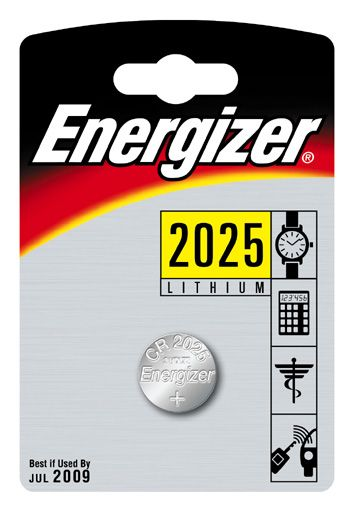 Energizer Lithium Battery Cr2025