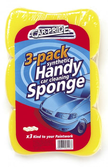 Car Pride Handy Car Sponges Pack 3