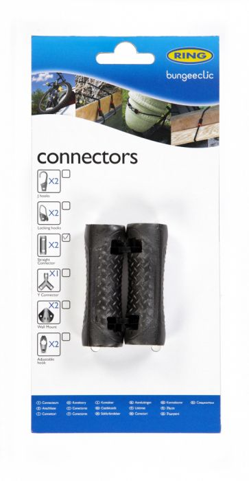 Ring Bungee Clic Straight Connectors Twin Pack