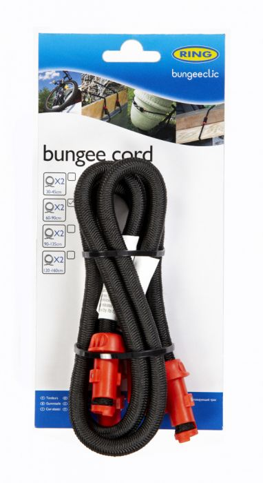 Ring Bungee Clic Cords Twin Pack 60Cm