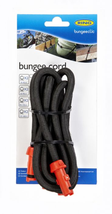 Ring Bungee Clic Cords Twin Pack 90Cm