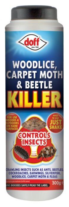 Doff Woodlice Carpet Moth & Beetle Killer 300G