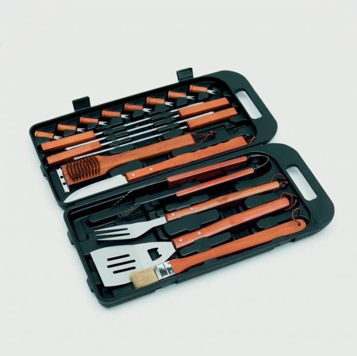 Landmann Bamboo Tool Set In Case 18 Piece