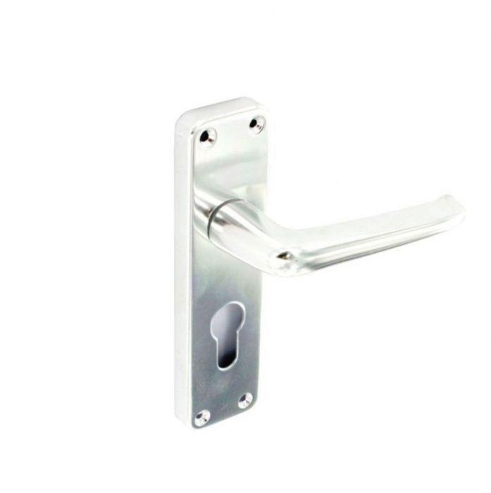 Securit Aluminium Euro Hadles Bright 1 Pair 150Mm