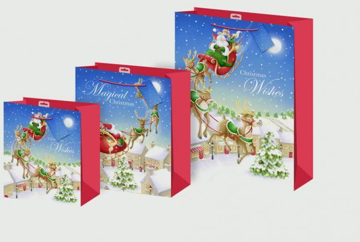 Bagsflying Santa + Glitter Large