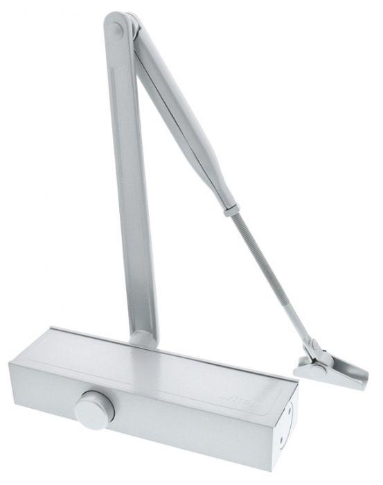 Briton Template Adjustable Door Closer Silver