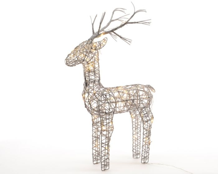 Led Outdoor Wicker Deer