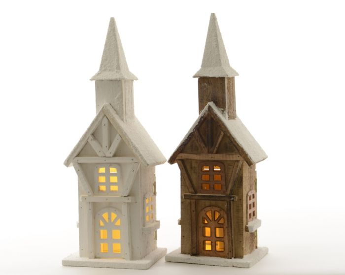 Indoor Led Wooden Tower 2 Assorted