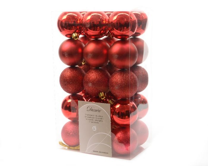 Shatterproof Baubles - 60Mm Mixed Pack 30