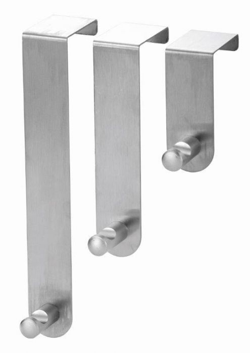 Blue Canyon Stainless Steel Over Door Hooks Set 3