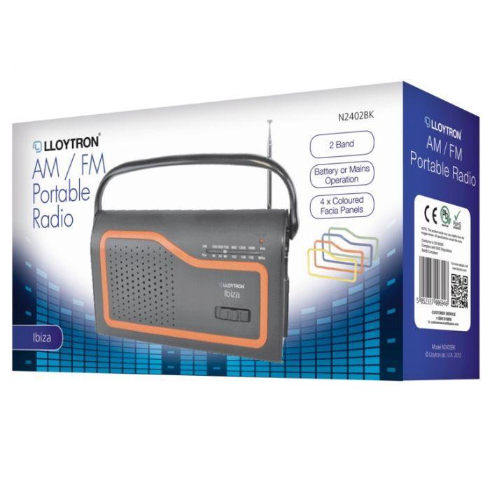Lloytron Am/Fm Portable Radio Battery Operated Mains