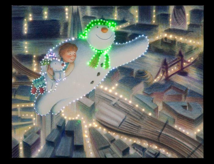 Fibre Optic Snowman/Dog Night Canvas