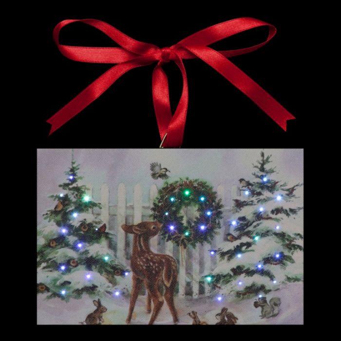 Reindeer & Trees Hanging Canvas