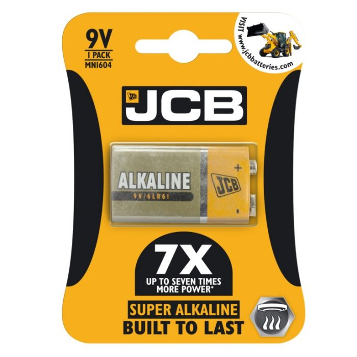Jcb Super Alkaline 9V Cell Batteries Lr22