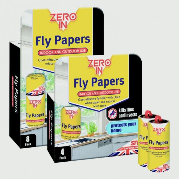 Zero In Fly Papers 8 Pack