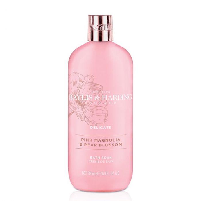 Baylis & Harding Moisturising Bath Soak 500Ml Pink Magnolia & Pear Blossom