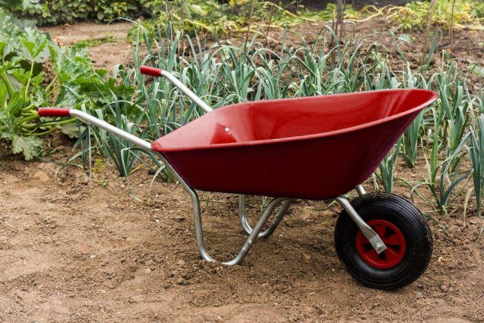 Ambassador Boxed Wheelbarrow 85L Red