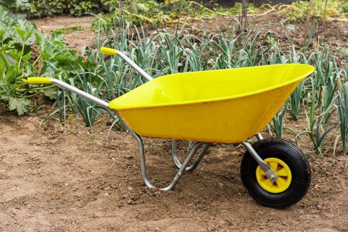 Ambassador Boxed Wheelbarrow 85L Yellow