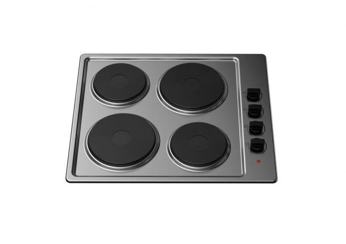 Kitchenplus 4 Zone Stainless Steel Electric Hob 600Mm