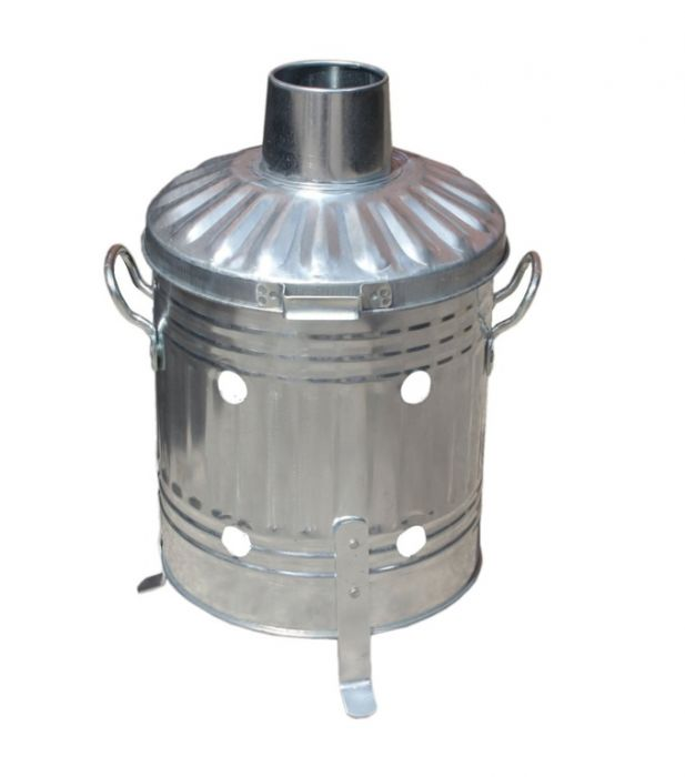 Ambassador Galvanised Mini Garden Incinerator Tapered