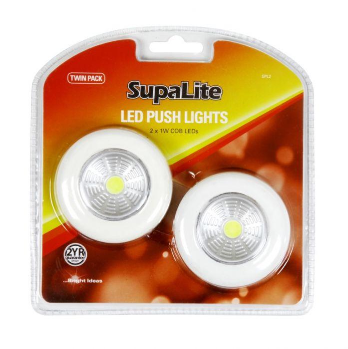 Supalite Led Push Light Twin Pack