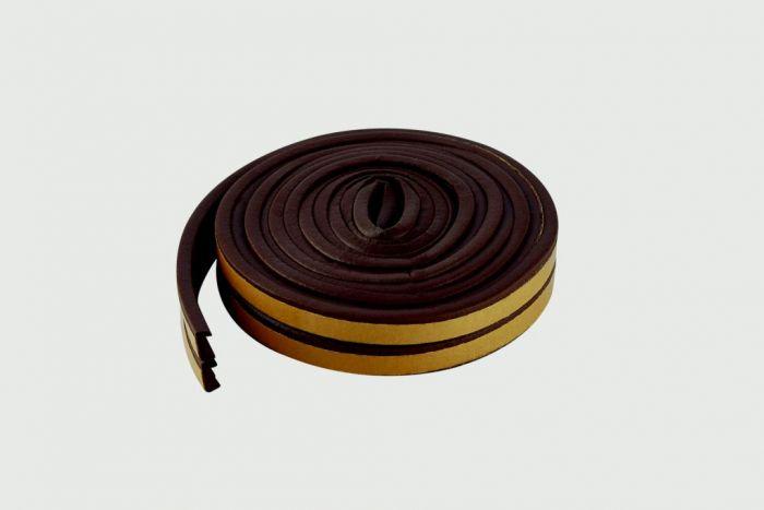 Woodside Epdm E Brown Rubber Strip 5M