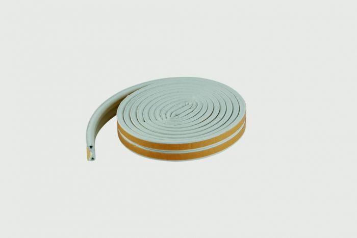 Woodside Epdm P White Rubber Strip 5Mtrs