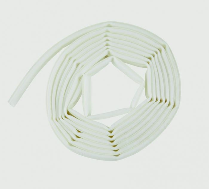 Woodside Tpe Rubber Strip Draught Excluder Omega Section 6M White