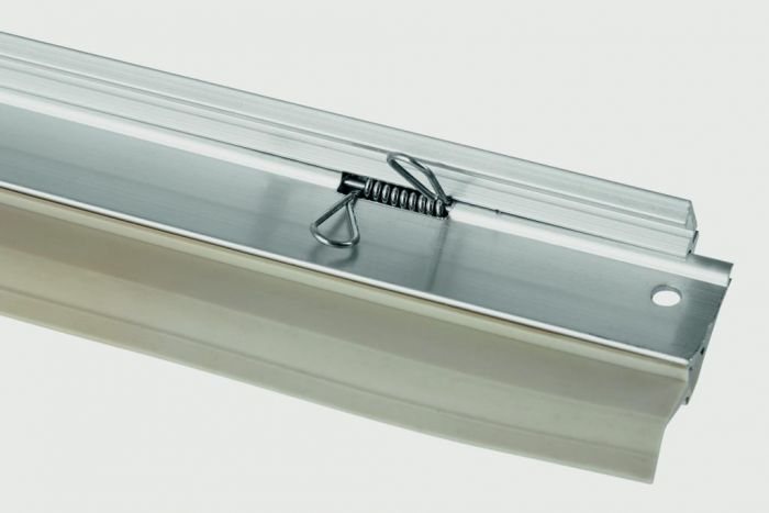 Woodside Bottom Of The Door Self Seal Draught Excluder Tpe Sweep Aluminium Silver