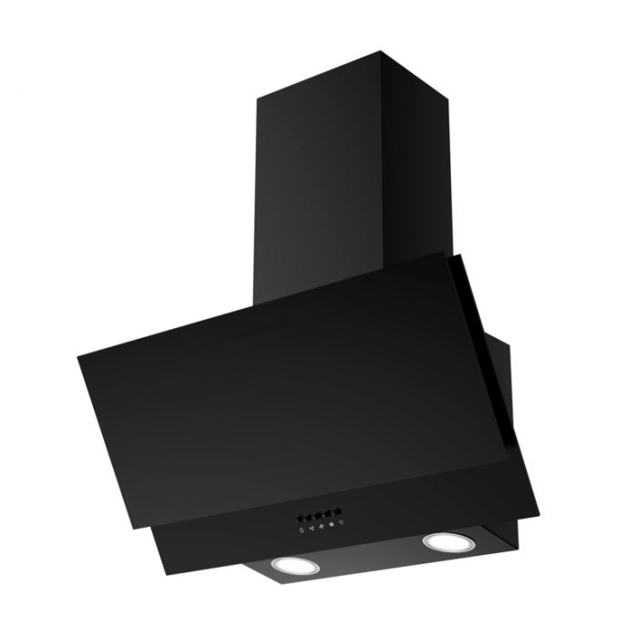 Kitchenplus Black Vertical Cooker Hood 600Mm