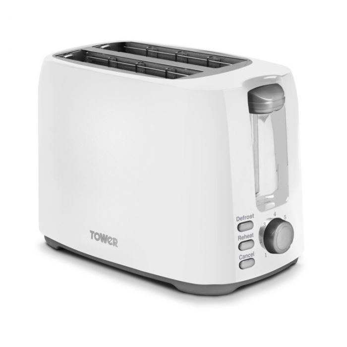Tower Elements 2 Slice Toaster 750W White