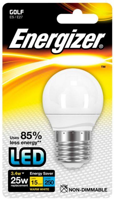 Energizer E27 Warm White Blister Pack Golf 3.4W