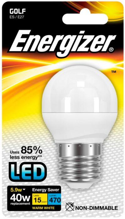 Energizer E27 Warm White Blister Pack Golf 5.9W