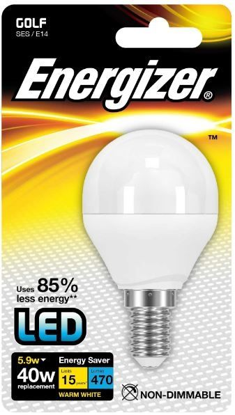 Energizer E14 Warm White Blister Pack Golf 5.9W Non Dimmable